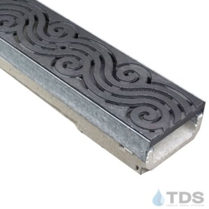 M100K-Argo Iron Age deco cast iron raw grate polymer concrete galv edge ULMA channel