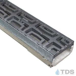 M100K-Carbochon Iron Age raw cast iron deco grate polymer concrete galv edge ULMA channel