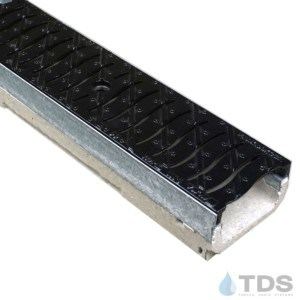 M100K-FNHX100KCCM-1 Wave heel-proof cast iron grate polymer concrete galv edge ULMA channel