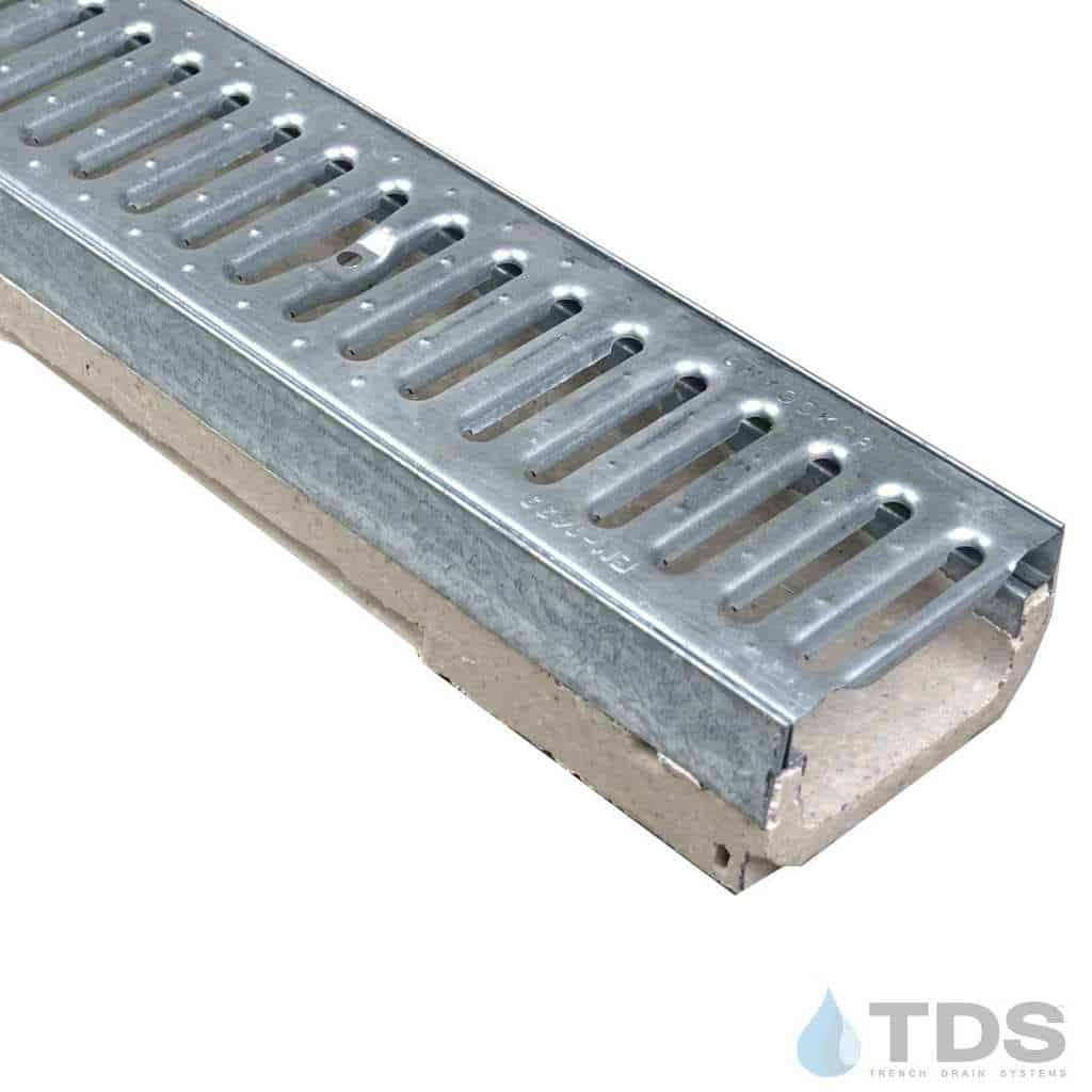 M100K-GN100KCA Galv Slotted Grate polymer concrete shallow galv edge ULMA channel
