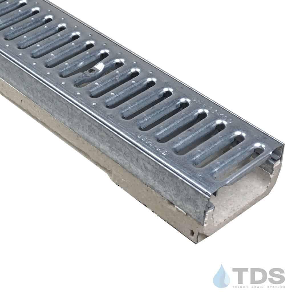M100K-GN100KCC Reinforced Galvanized Steel grate polymer concrete galv edge ULMA channel