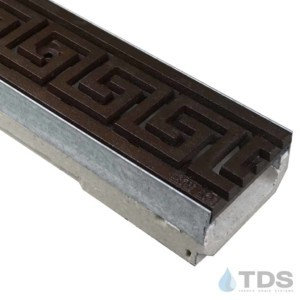M100K-GreekKey-boof ironage cast iron deco grate shallow ULMA channel galv edge