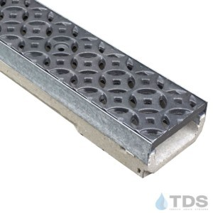 M100K-Interlaken raw cast iron deco grate polymer concrete galv edge ULMA channel