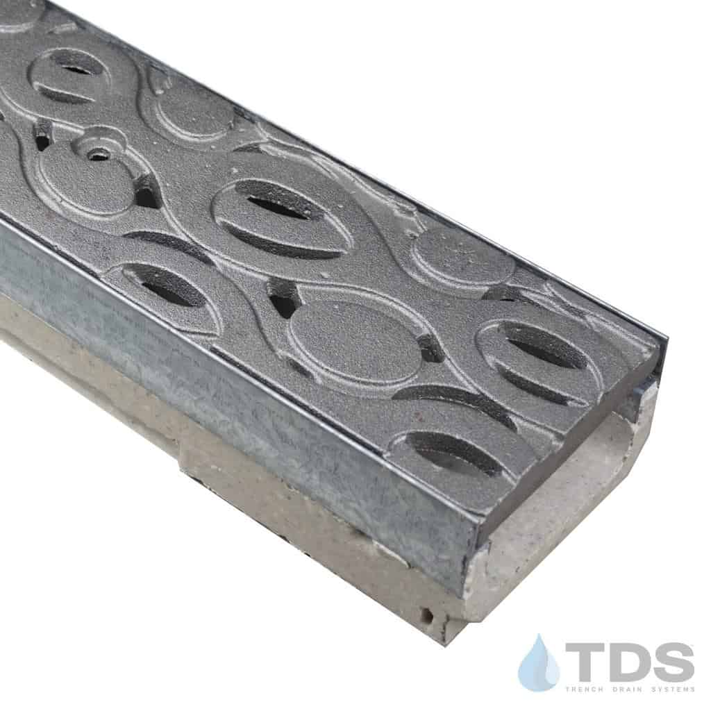 M100K-Janis Cast Iron Ironage Deco Grate polymer concrete channel ULMA
