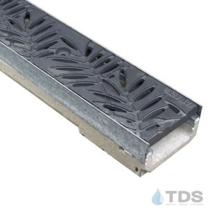 M100K-Locust Raw Cast Iron deco grate polymer concrete galv edge ULMA channel