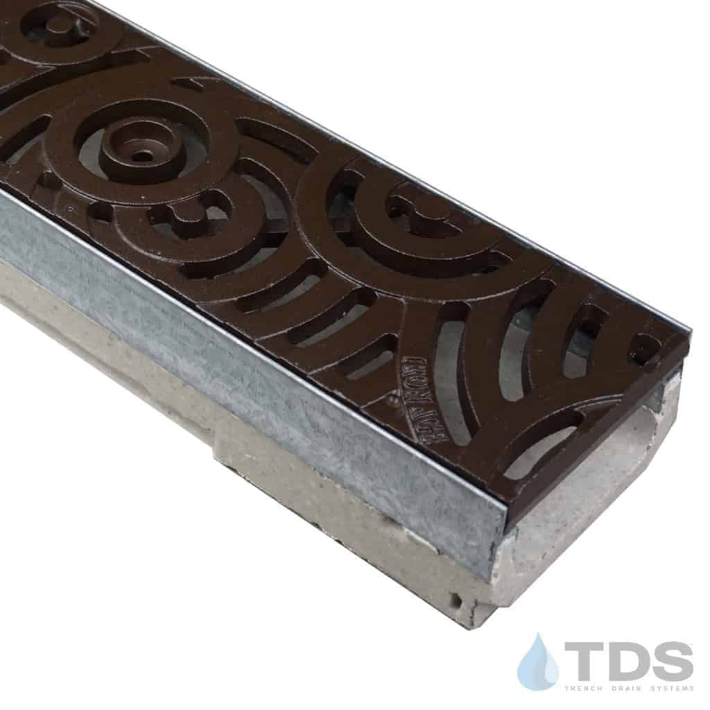 M100K-Oblio-boof cast iron ironage deco grate polymer concrete ULMA channel galv edge