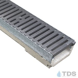 M100K-RegularJoe Cast Iron Deco raw Iron Age grate polymer concrete galv edge ULMA channel