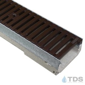 M100K-RegularJoe-boof cast iron ironage grate polymer concrete channel galv edge