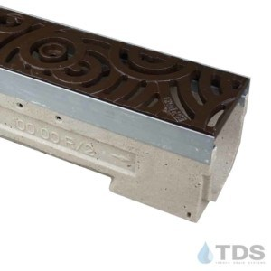 U100K-Oblio-boof deco cast iron ironage grate polymer concrete galv edge ULMA channel