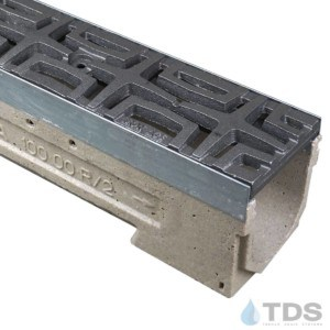 U100K00M-Carbochon Cast Iron Ironage Deco Raw Grate polymer concrete galv edge ULMA channel