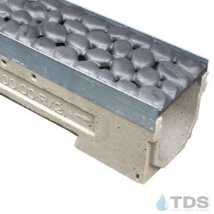 U100K00M-RiverRock Cast Iron Ironage deco raw grate polymer concrete galv edge ULMA channel
