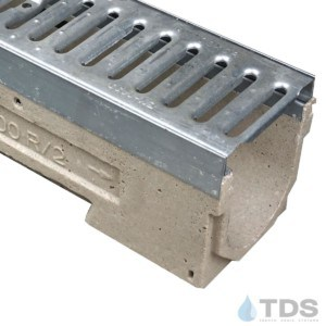 U100KM-GN100KCA Galv. Steel Slotted class A grate polymer concrete galv edge ULMA channel