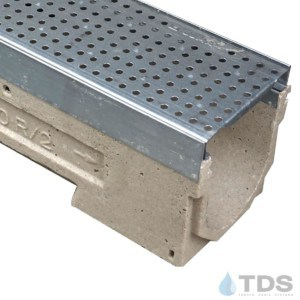 U100KM-GP100KCA 402 galv. steel perforated grate class a polymer concrete galv edge ULMA channel