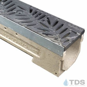 U100KM-Locust Cast Iron Deco Ironage raw grate polymer concrete galv edge ULMA channel