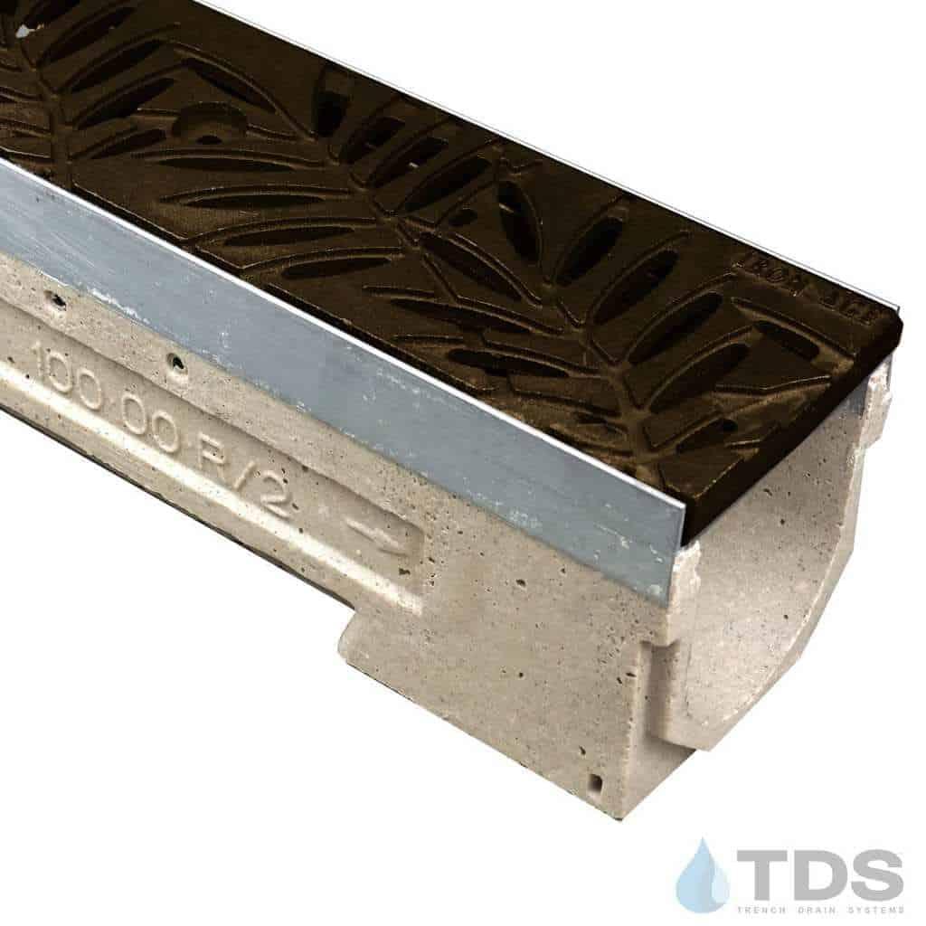 U100KM-Locust-boof cast iron deco ironage grate polymer concrete ULMA channel galv edge