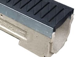 ULMA U1K W/ADA Heel-proof Poly Grate Black/Grey