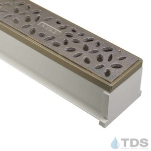 Max Mini Bronze edged with TDS Natural Bronze Rain Drop Grate