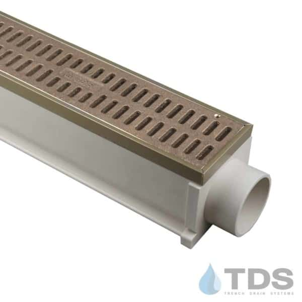 TDS MAX Mini with Bronze Edging and TDS560 Natural Bronze Slotted Grate