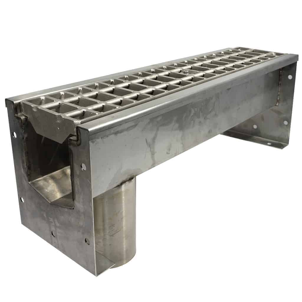 SS600 Series by Trench Drain Systems with stainless steel bar grating