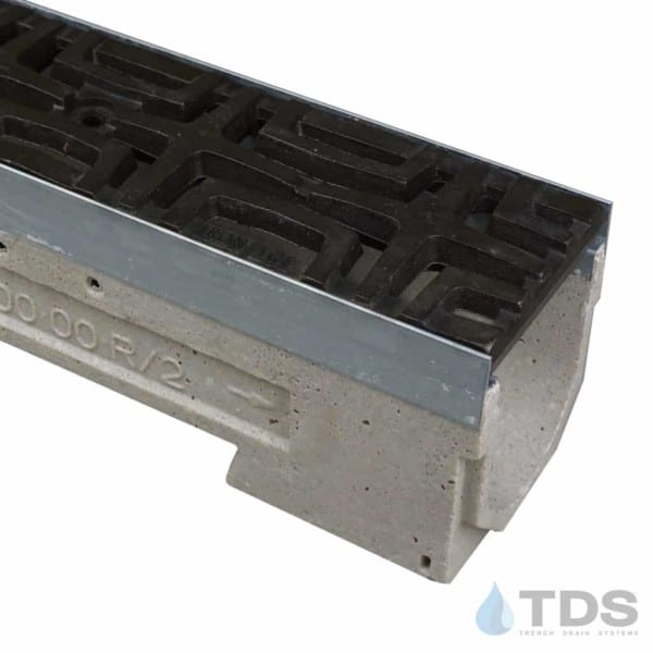 ULMA channel with galvanized edge and Carbochon Baked on Oil Finish grate