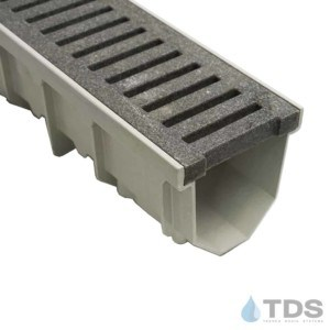 Jonite 5 inch Gray Slotted Grate on MEARIN 100 Channel