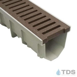 Jonite 5 inch Mocca Brown Slotted Grate on MEARIN 100 Channel
