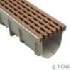 Jonite 5 inch Terracotta Modern Interlace Grate on MEARIN 100 Channel