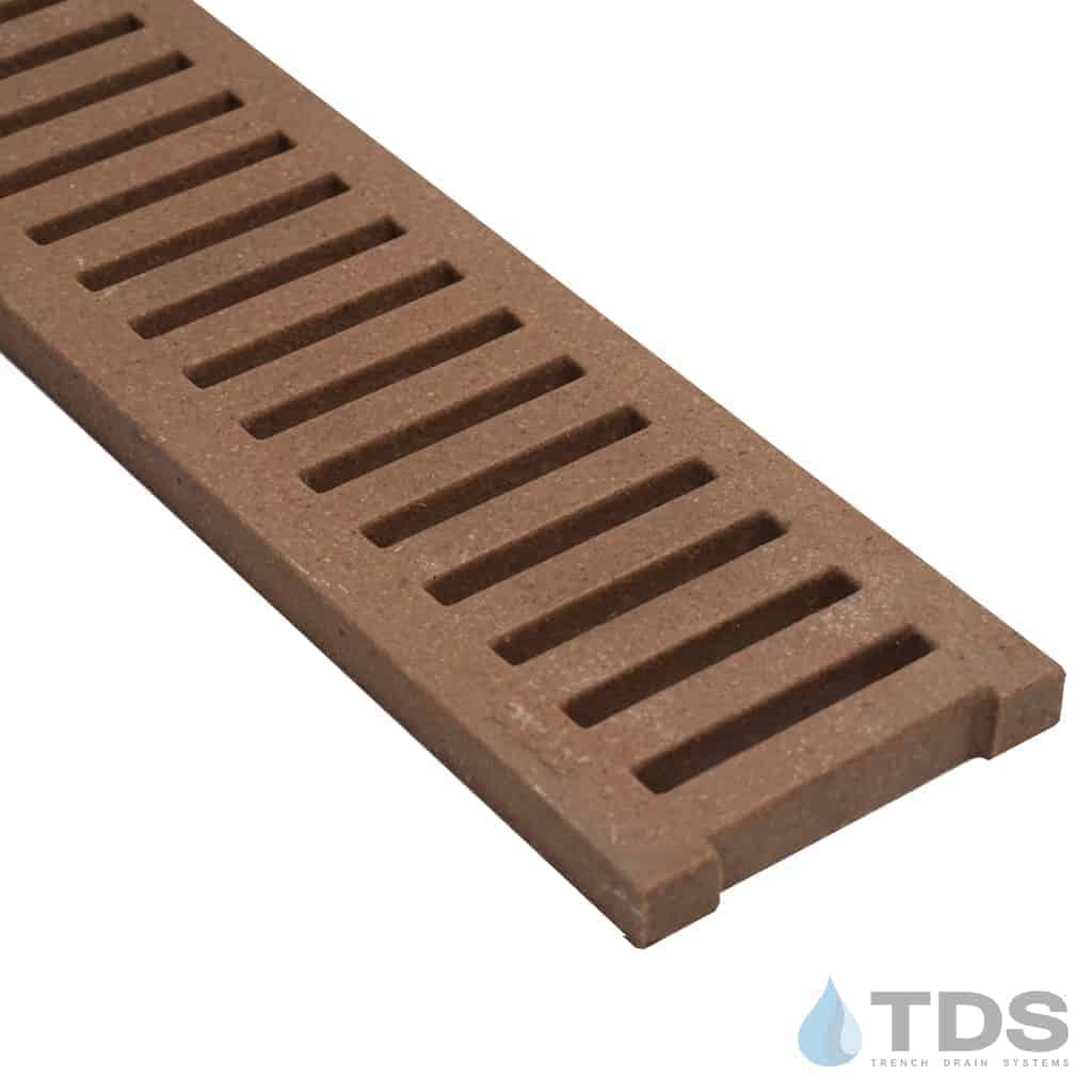 Jonite 5 inch Grate with Terracotta Color and Slotted Pattern