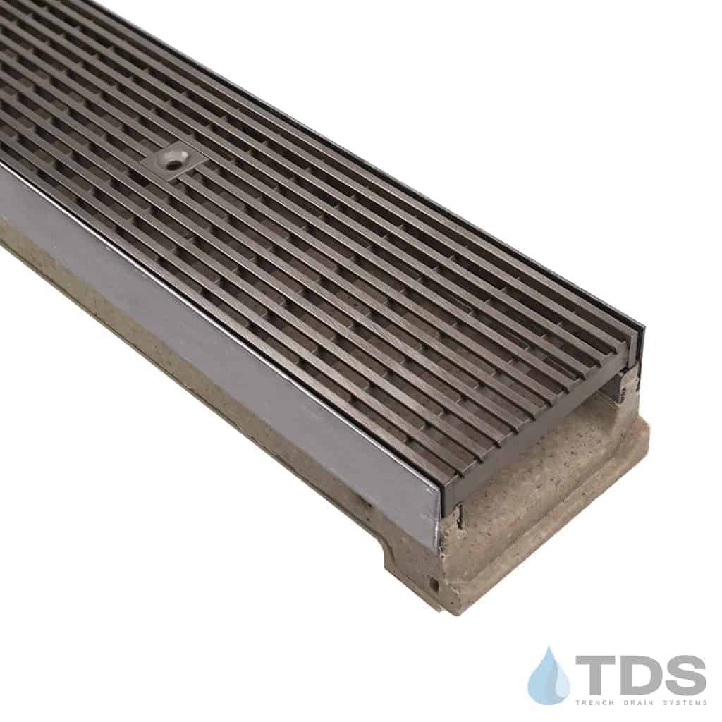 ULMA M100KX Polymer Concrete Channel with Stainless Steel Edging and Wedge Wire Grate