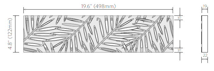 Jonite Palm trench Grate dimension