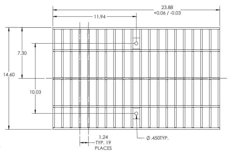 FP1200 FG1247R Class C-Stainless Steel Bar Grate