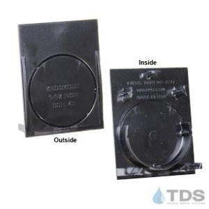 NDS Slim Channel End Cap and Outlet