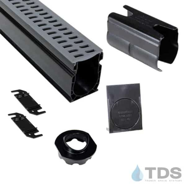 NDS Slim Channel Kit with Gray Slotted Grate