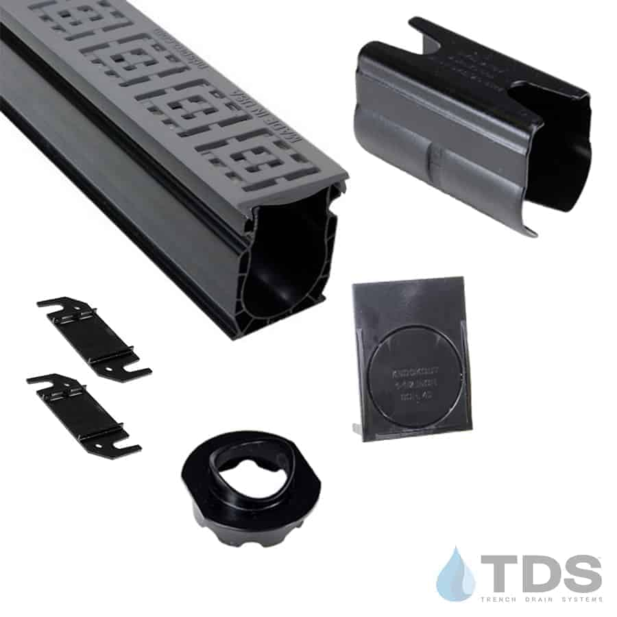 NDS Slim Channel Kit with Gray Square Grate