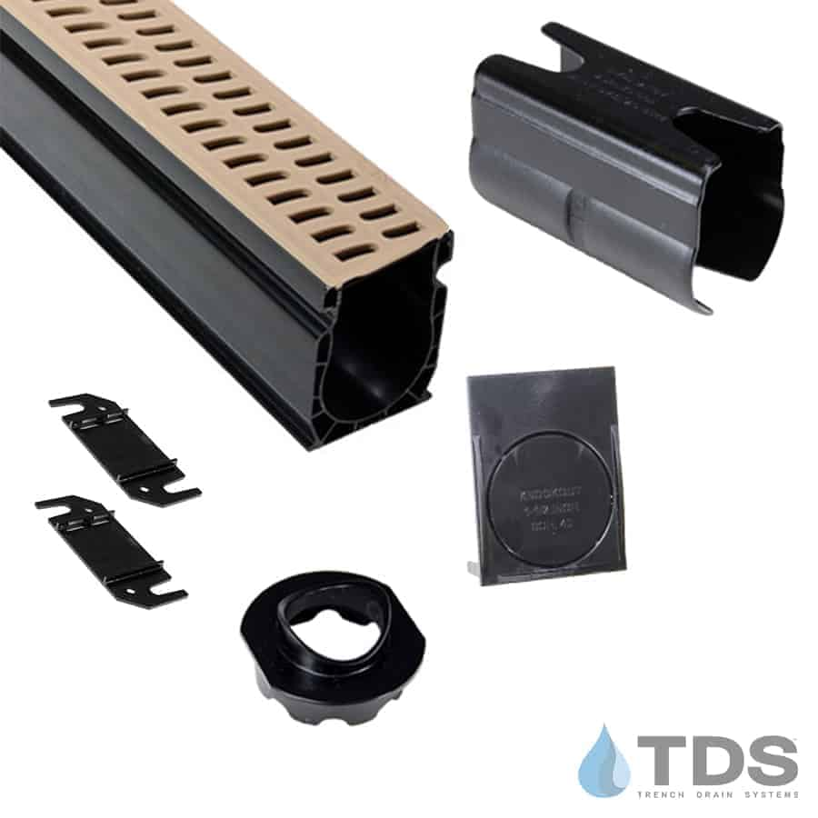 NDS Slim Channel Kit with Sand Slotted Grate