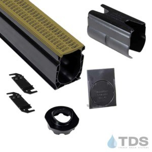 NDS Slim Channel Kit with TDS Bronze Age Brushed Bronze Slotted Grate