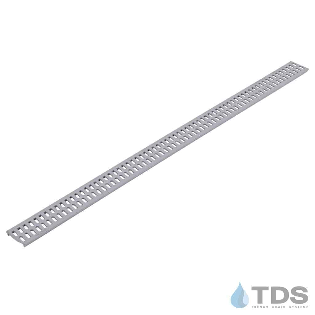 9243 NDS Slim Channel Gray Slotted Grate