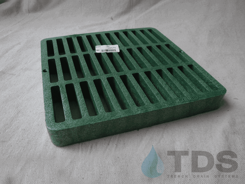 NDS990_Green_Plastic_Slotted_Catch_Basin_Grate_9x9