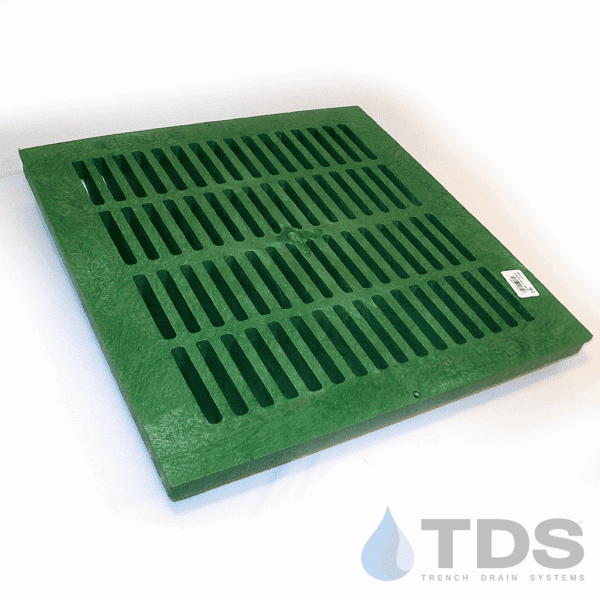 NDS2412_Green_Plastic_Slotted_Catch_Basin_Grate_NDS_24x24