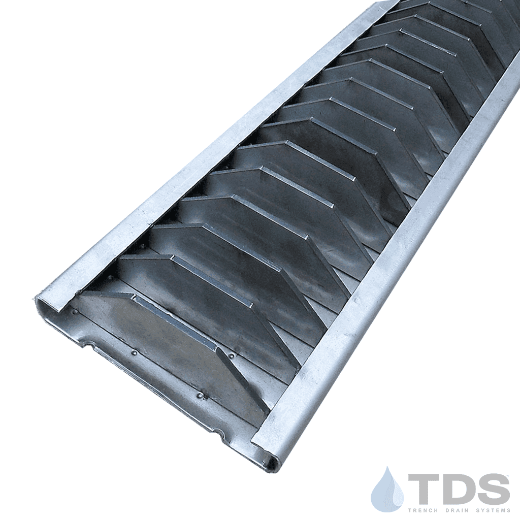 Reinforced stainless steel slotted grate