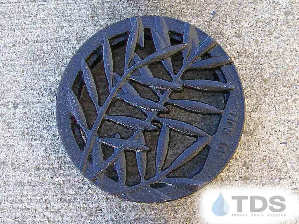 4inch-dia-locust-TDSdrains boof baked on oil finish round