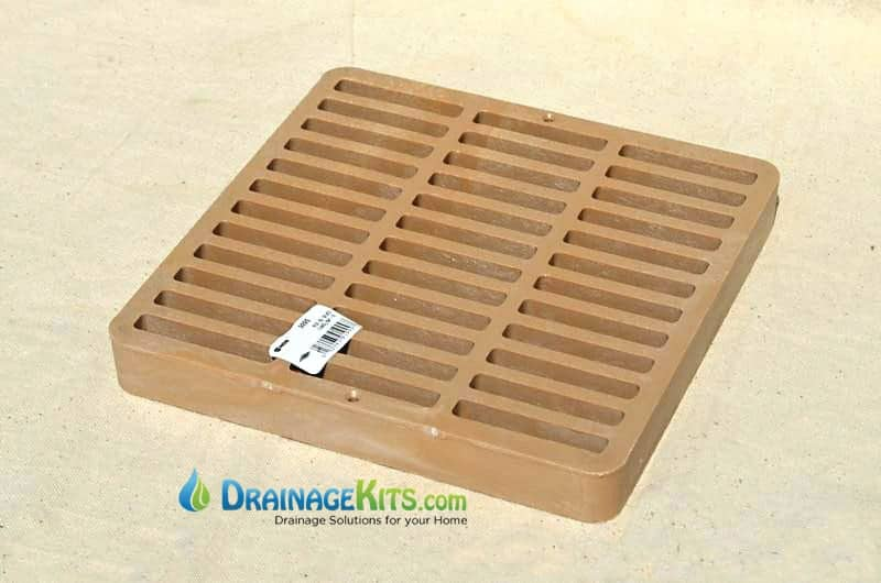 NDS999S Square slotted catch basin grate 9x9inch - Sand