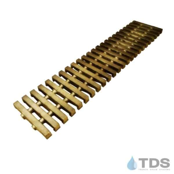 BA-PED-0312 Bronze Brushed Mini Channel Pedreda Grate with logo
