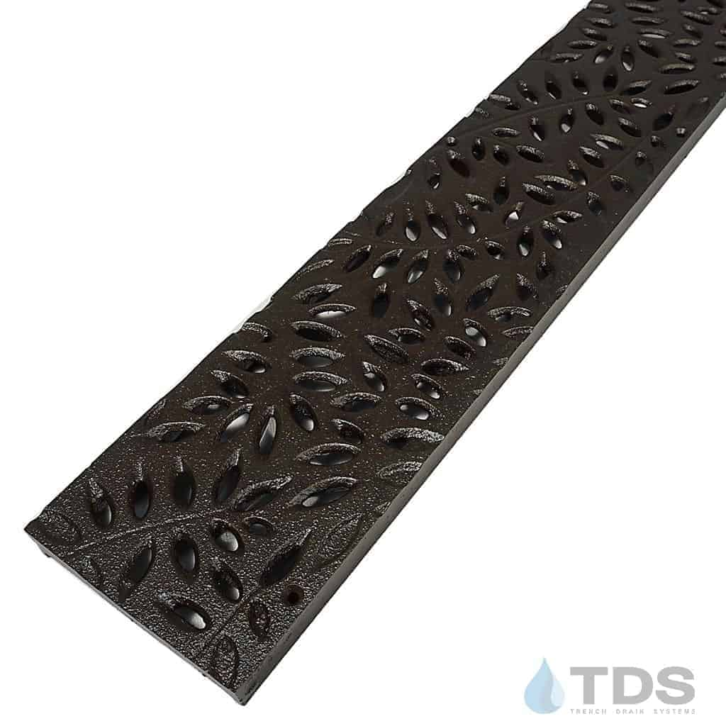 NDS-BK-Botanical-cast-iron-grate-TDSdrains
