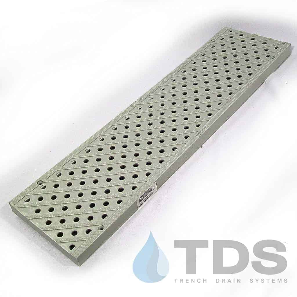 NDS826-lt-grey-perf-grate 5″ Pro Series Grey Perf grate by NDS