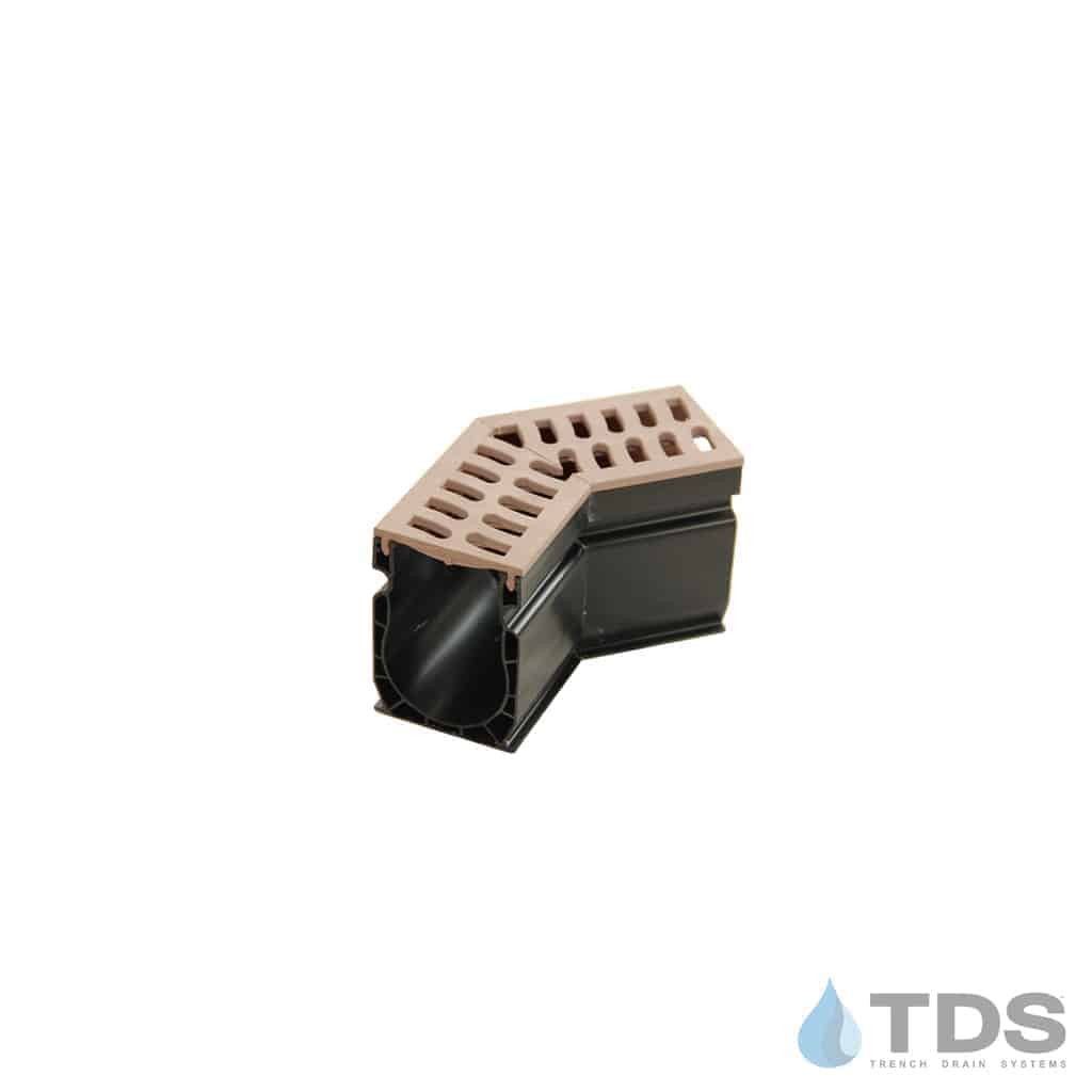 Slim Channel 9302 Fabricated 45 Degree Angle with Sand Slotted Grate