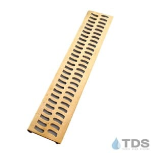 Slim Channel Bronze Brushed Slotted Grate BA-SLOT-0212