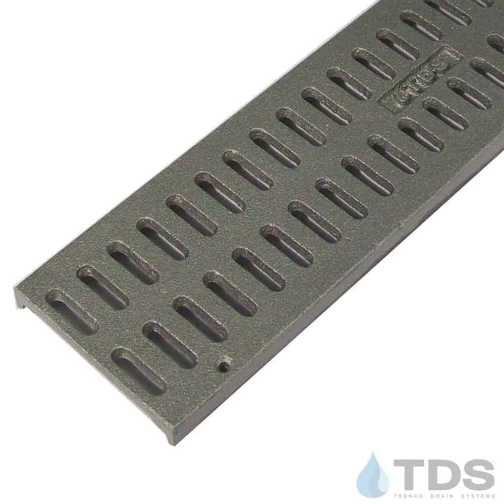 Trench Drain Systems natural aluminum slotted grates for NDS mini channel