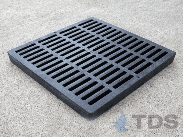 NDS1211_Black_Plastic_Slotted_NDS_Catch_Basin_Grate_12x12