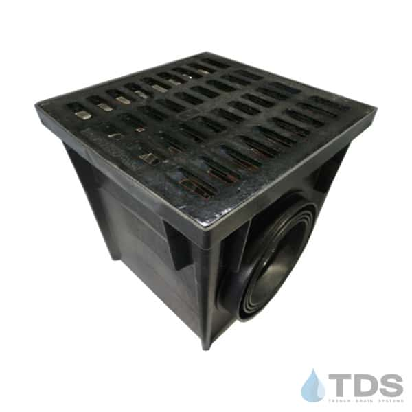 CBK-24 Catch Basin with NDS2413 24 inch Black Cast Iron Grate